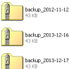 Systematic backup copy